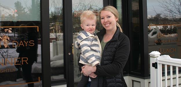 Copper Kitchen Happy Hour Front Door Mom & Jude