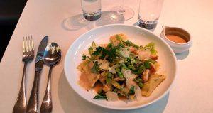 Eating with a Newborn Stanza Agnolotti Al Piselli Pasta Dish