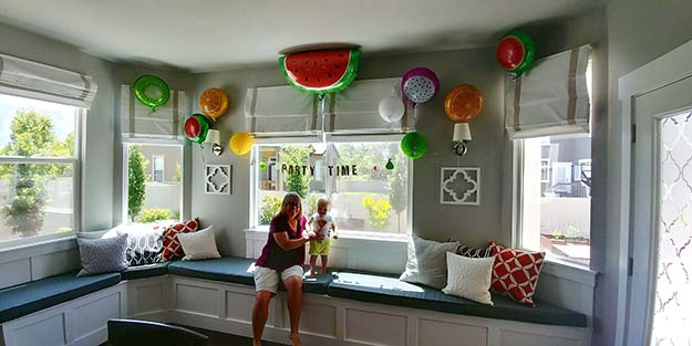 One in a Melon First Birthday Party Fruit Balloon Decorations