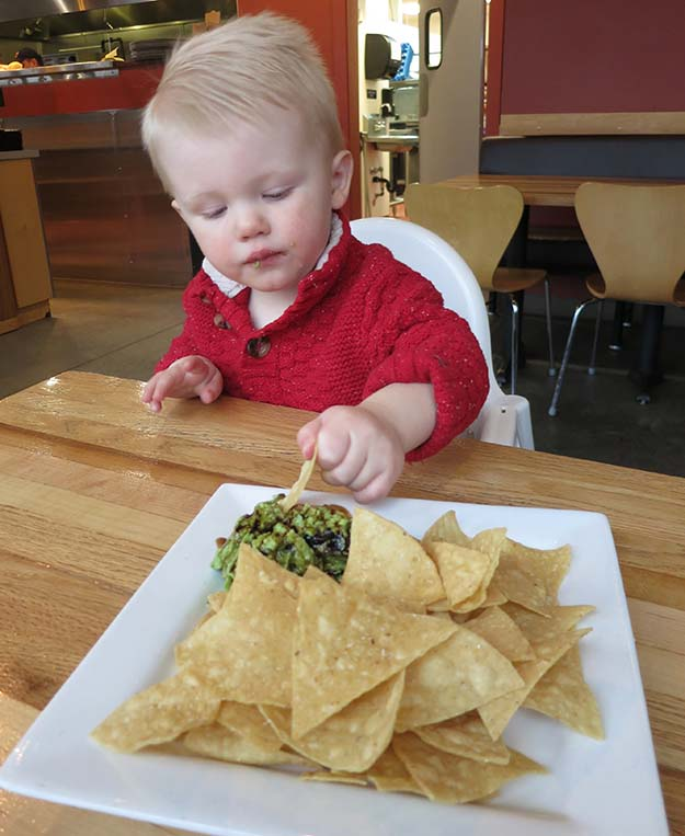 Taqueria 27 Guacamole of the Day with gorgonzola, blueberries, roasted chiles