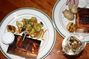 Market Street Grill Early Bird Cedar Plank Salmon