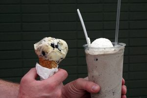 Avenues Proper Neighbor Hatch Family Chocolates Cookies N Cream Shake and Cone