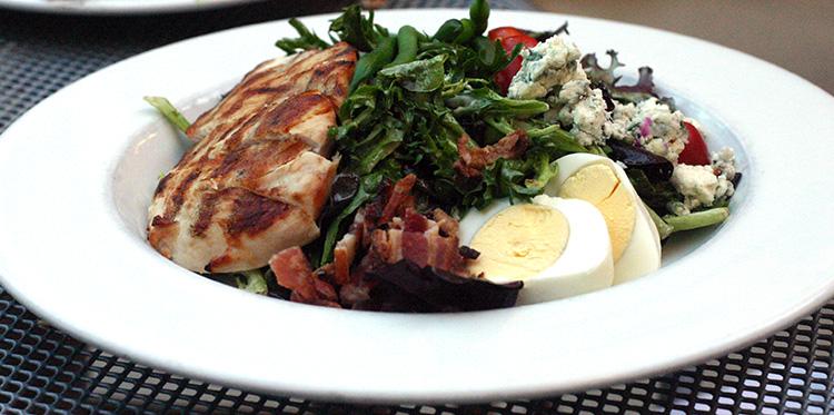 Cafe Trio Restaurant hidden kid-friendly spot  Cobb Salad with avo