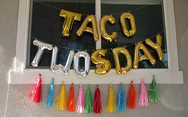 Taco TWOsday Fiesta Birthday Banner